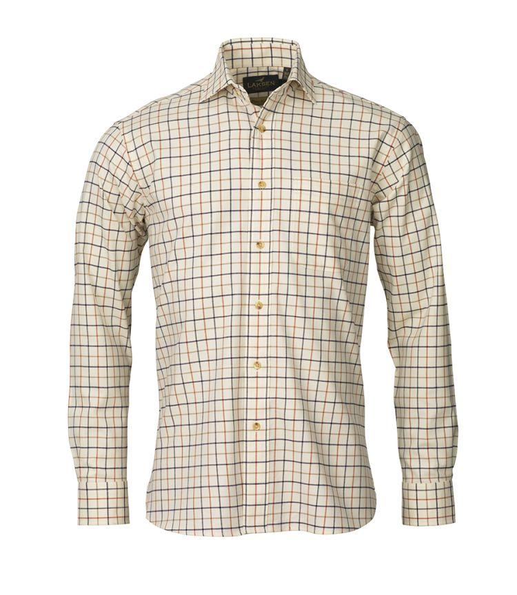 Tommy skjorten fra Laksen Sporting. Produktbildet viser skjorten sett forfra