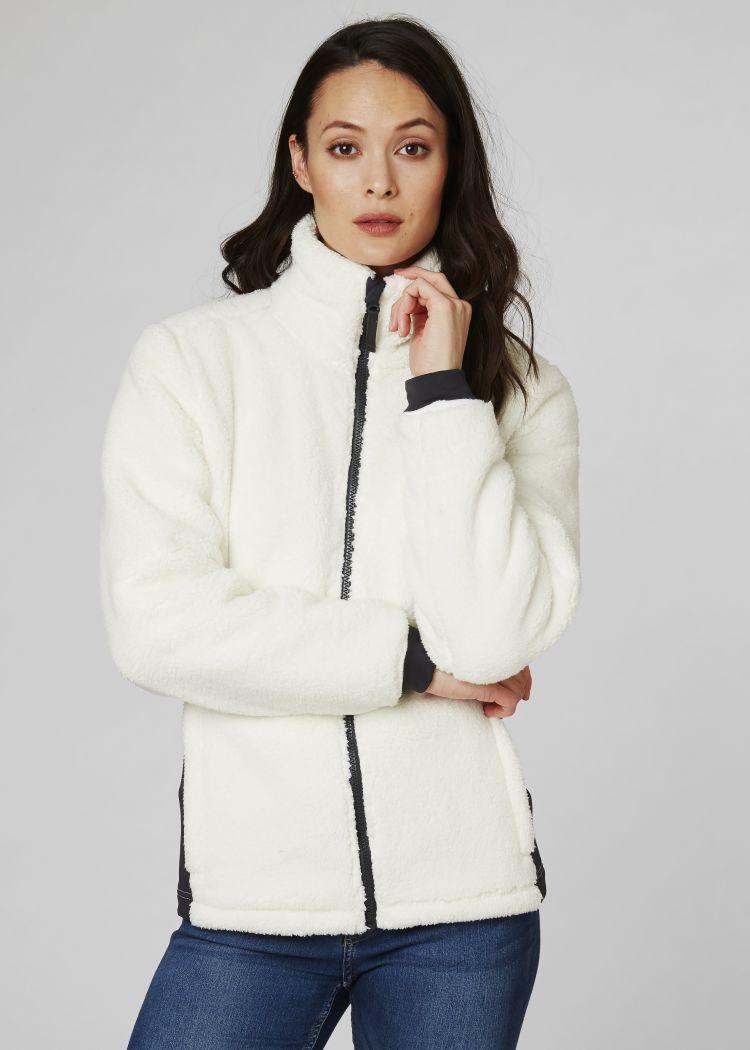 Precious fleece jacket til dame fra Helly Hansen. Bilde av jakken på modell sett forfra
