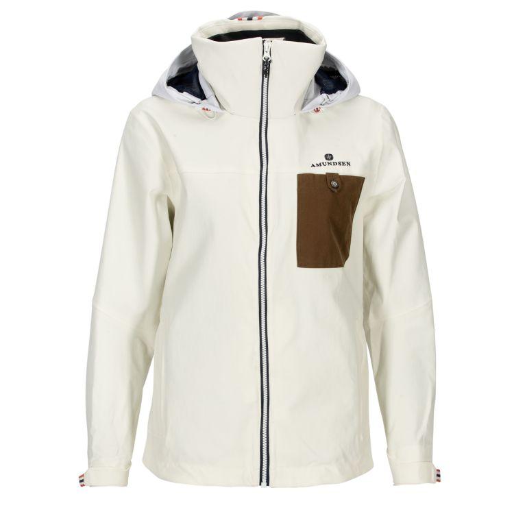 Drifter Jacket fra Amundsen Sports til dame i fargen offwhite. Bildet viser jakken sett forfra
