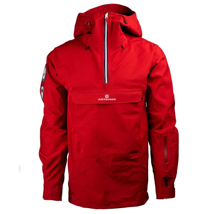 amundsen sports peak anorak ruby red sett forfra herre
