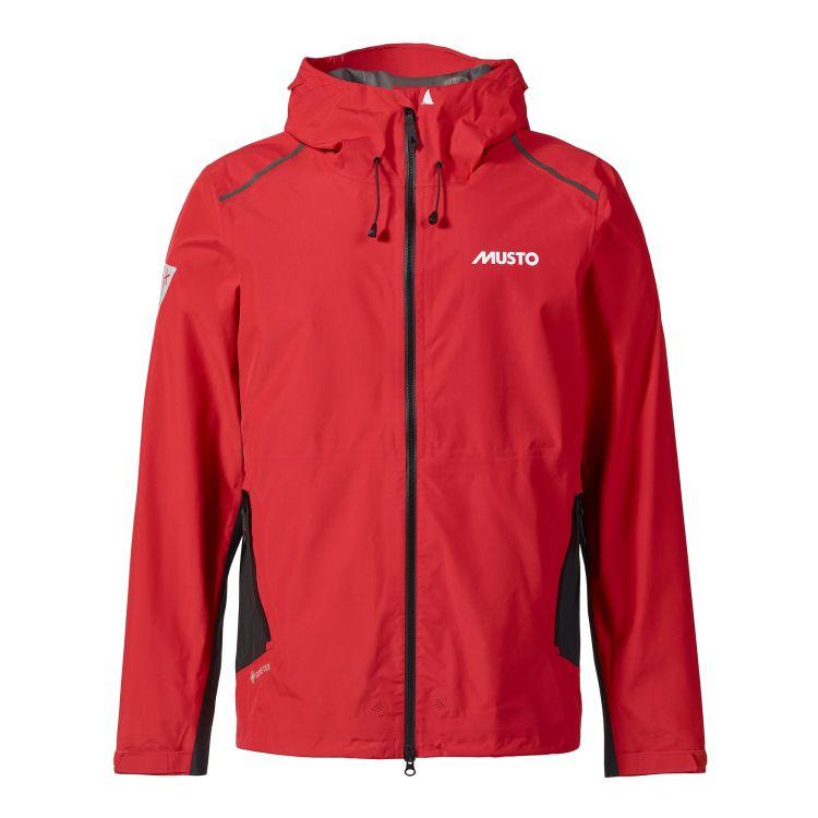 LPX gtx Infinium Aero Jacket fra Musto i fargen true red til herre. Produktbildet viser jakken sett forfra