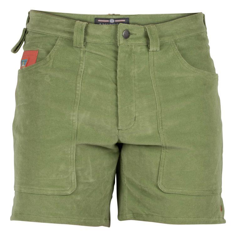 7 incher concord shorts fra amundsen sports til herre i fargen moss green/olive. produktbildet viser shortsen sett forfra