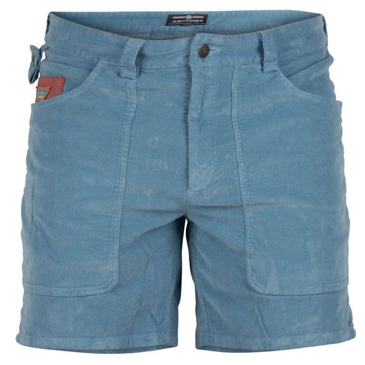 7 incher concord shorts garment dyed fra amundsen sports til herre. i fargen arona blue. produktbildet viser shortsen sett forfra