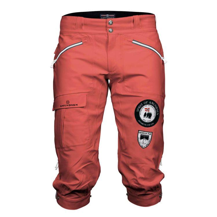 amundsen peak knickerbockers i fargen weathered redtil dame. produktbilde sett forfra