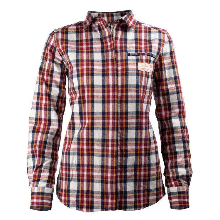 Skauen Field Shirt fra Amundsen Sports i fargen Chequered White til dame. Produktbildet viser skjorten sett forfra