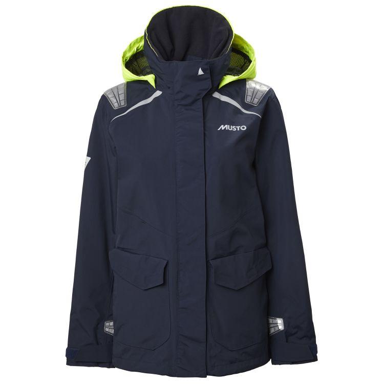 BR1 Inshore jakke til dame fra Musto i fargen True Navy. Produktbildet viser jakken sett fra forsiden