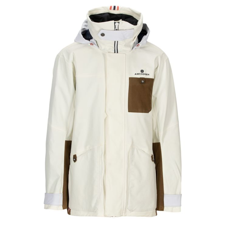 Deck Jacket fra Amundsen Sports til herre i fargen OffWhite. Produktbildet viser jakken sett forfra