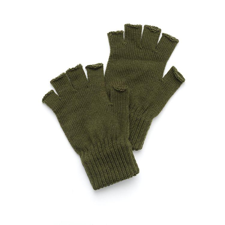 Woolman knitted glove fra Laksen i fagren grønn. Produktbilde