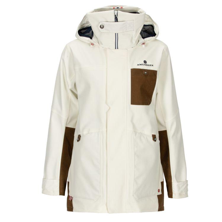 Deck Jacket fra Amundsen Sports til dame i fargen Offwhite. Produktbildet viser jakken sett forfra