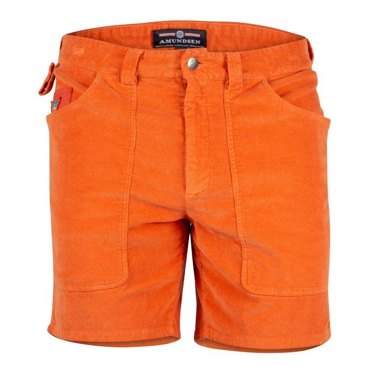 7 incher concord shorts garment dyed fra amundsen sports til herre. i fargen orange sunset. produktbildet viser shortsen sett forfra