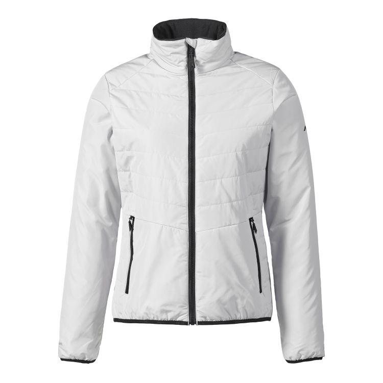 W Corsica Primaloft Jacket til dame fra Musto. Jakken er platinum/lys og produktbildet viser jakken forfra
