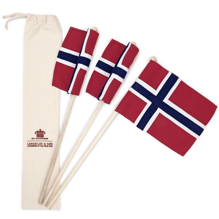 sydde norske 17mai flagg 3pakk