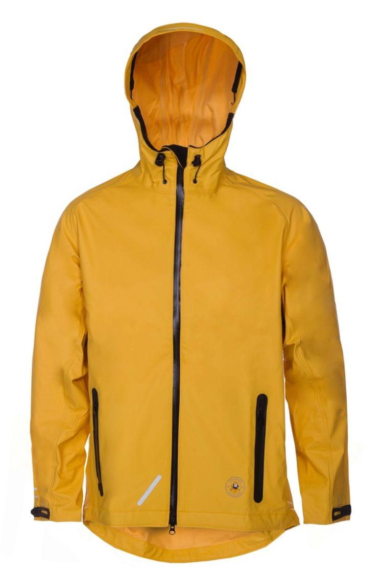 aalesund oljeklede ona softrain regnsjakke gul foran