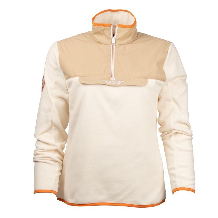 Roamer Fleece fra amundsen sports til dame i fargen desert. produktbildet viser genseren sett forfra