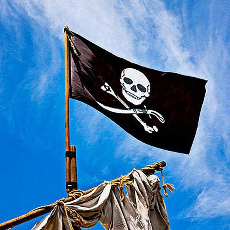 sjørørverflagg på skip