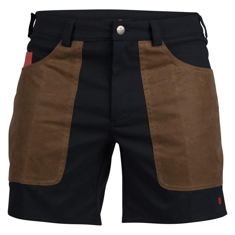 7 Incher fIeld shorts til herre fra Amundsen Sports i fargen faded navy/tan. Bildet viser shortsen sett forfra