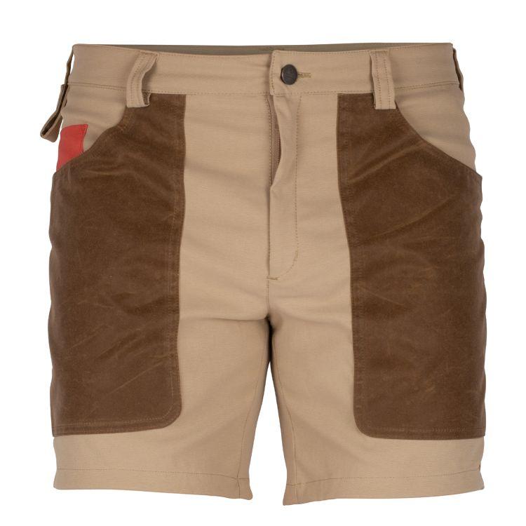 7 Incher fIeld shorts til herre fra Amundsen Sports i fargen faded Desert/tan. Bildet viser shortsen sett bakfra
