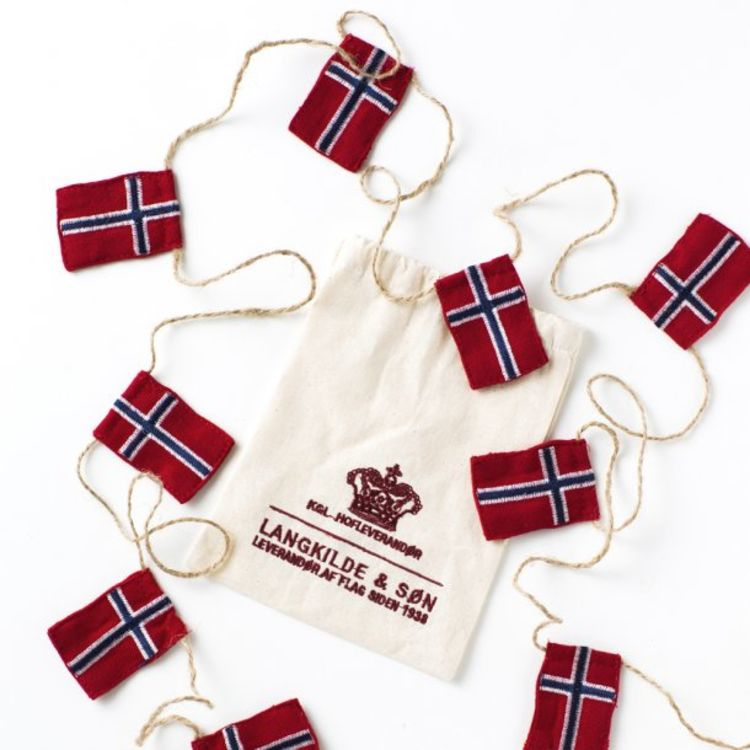 sydd flagglenke liten norske flagg langkilde & søn