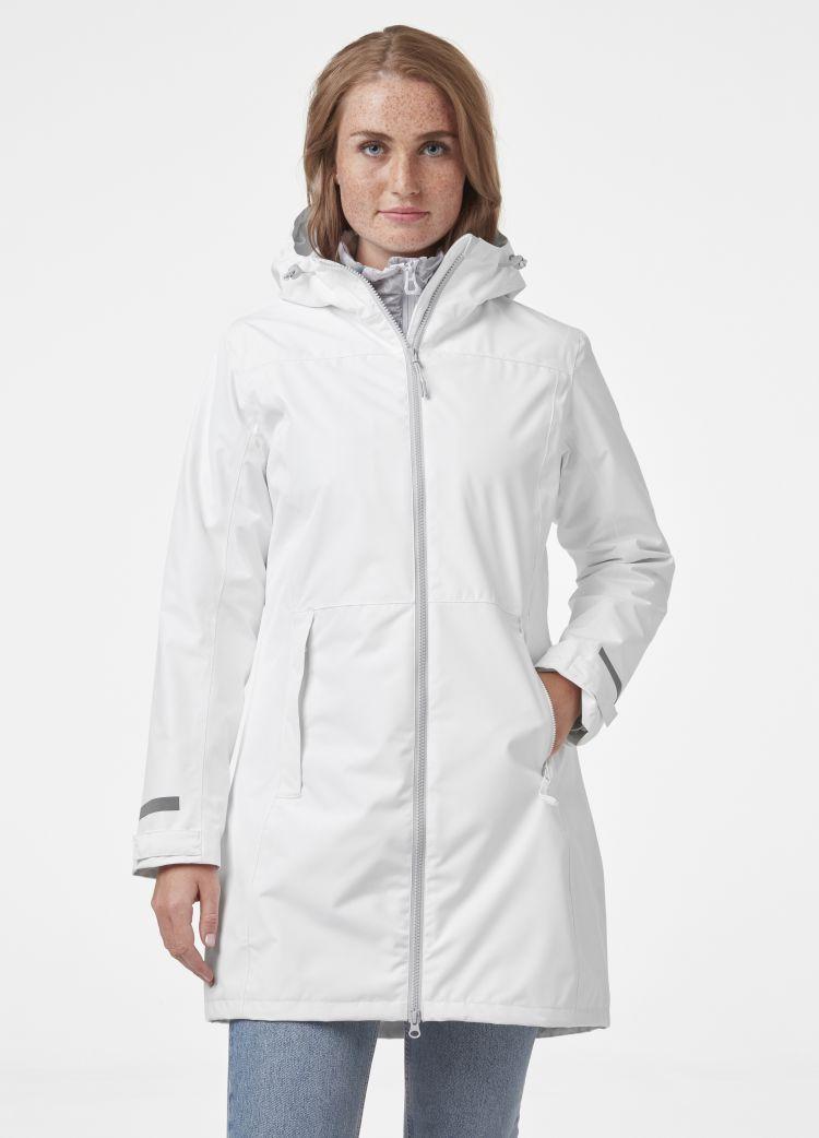 Lisburn Raincoat fra Helly Hansen til dame i fargen white