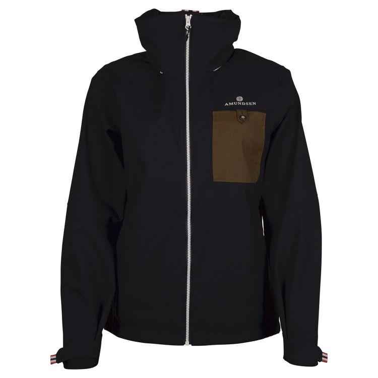 Drifter Jacket fra Amundsen Sports til dame i fargen faded navy. Bildet viser jakken sett forfra