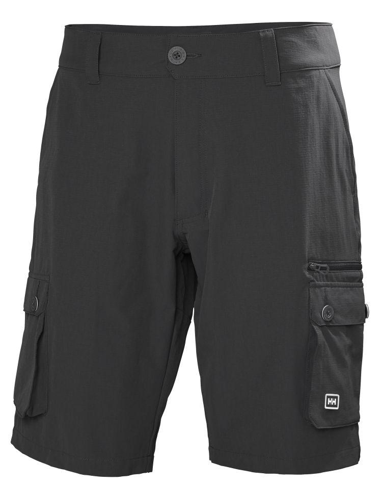 Maridalen Shorts til herre fra Helly Hansen i fargen Ebony. Produktbildet viser shortsen sett forfra