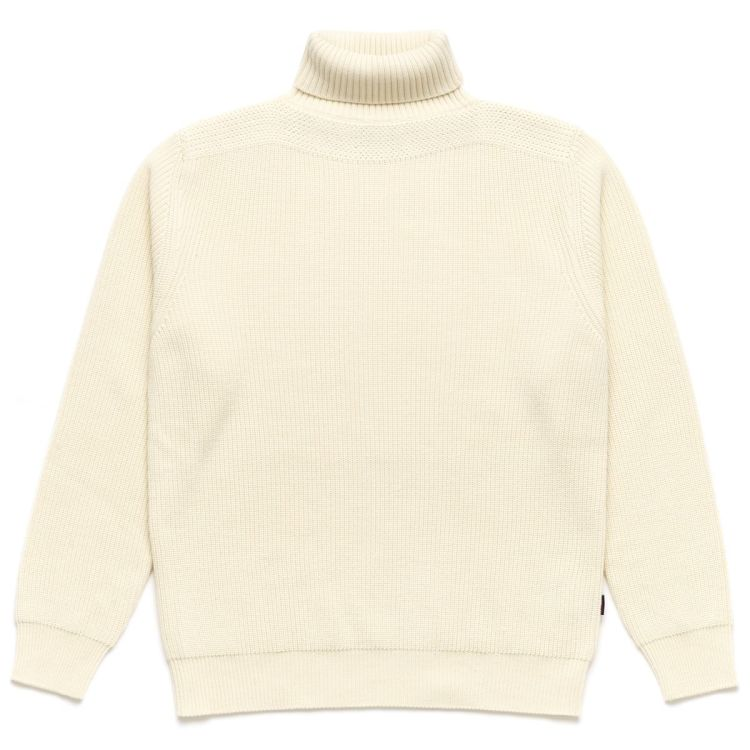 Quickie genser fra Sebago til herre, i fargen Beige Rock Sand. Produktbildet viser genseren sett forfra