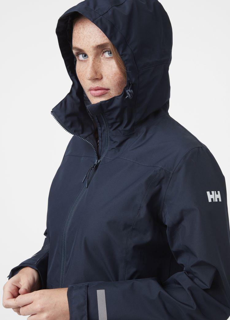Lisburn Raincoat fra Helly Hansen til dame i fargen navy