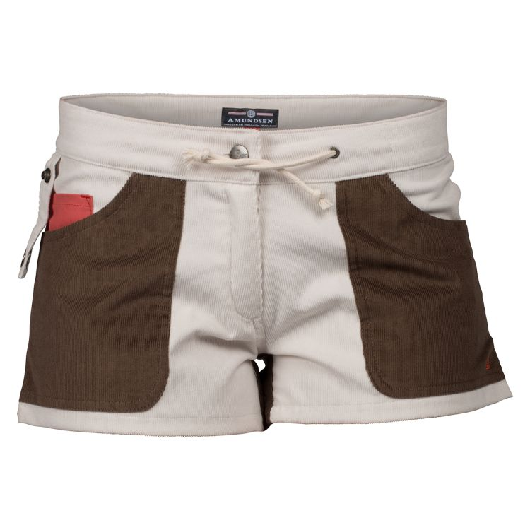 3 Incher Concord shorts fra Amundsen sports til dame i fargen Natural/cowboy. produktbildet viser shortsen sett forfra