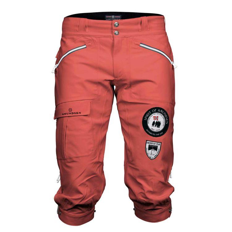 amundsen peak knickerbockers i fargen weathered red til herre. produktbilde sett forfra