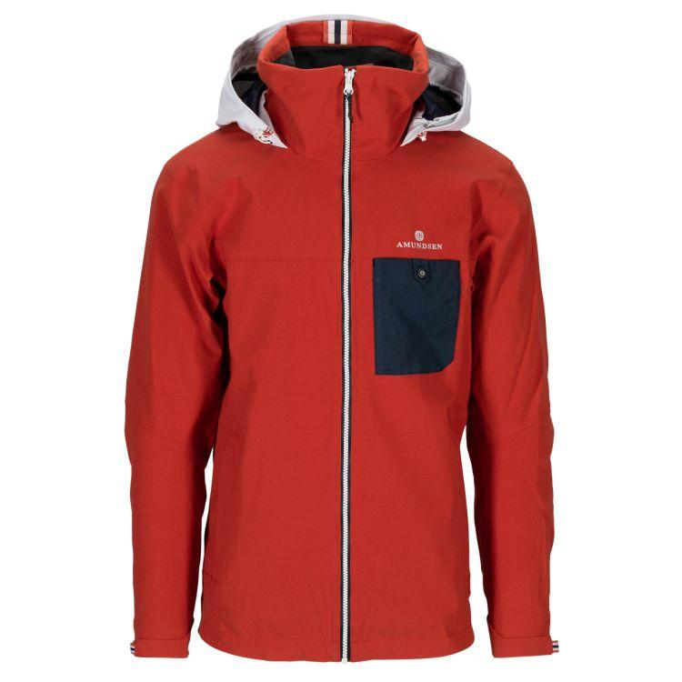Drifter Jacket fra Amundsen Sports til herre i fargen red clay. Bildet viser jakken sett forfra