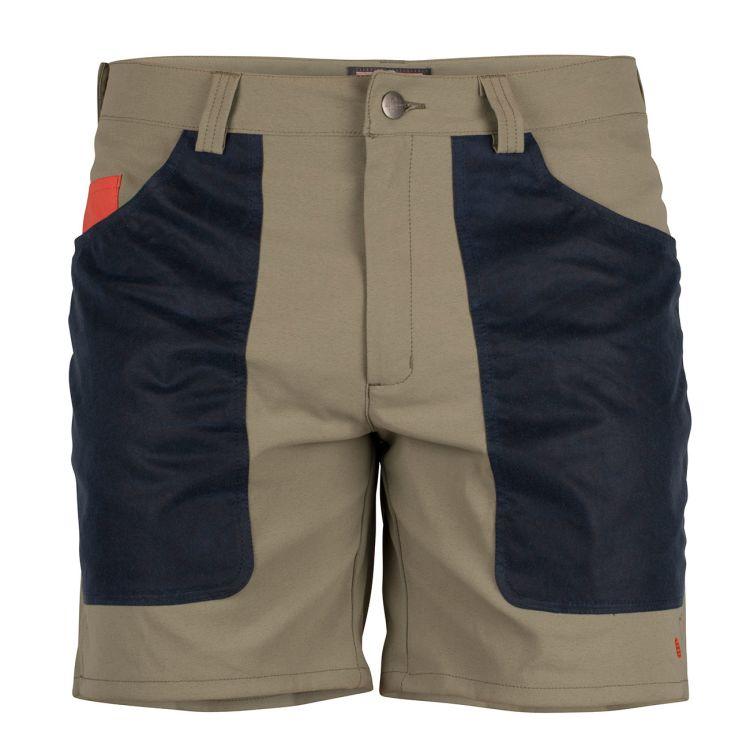 7 Incher fIeld shorts til herre fra Amundsen Sports i fargen blue surf/navy. Bildet viser shortsen sett forfra