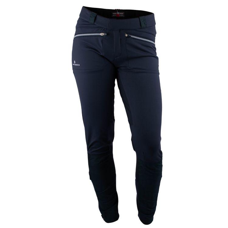 5Mila Pants fra Amundsen Sports i fargen faded navy til dame. Produktbilde av buksen sett forfra