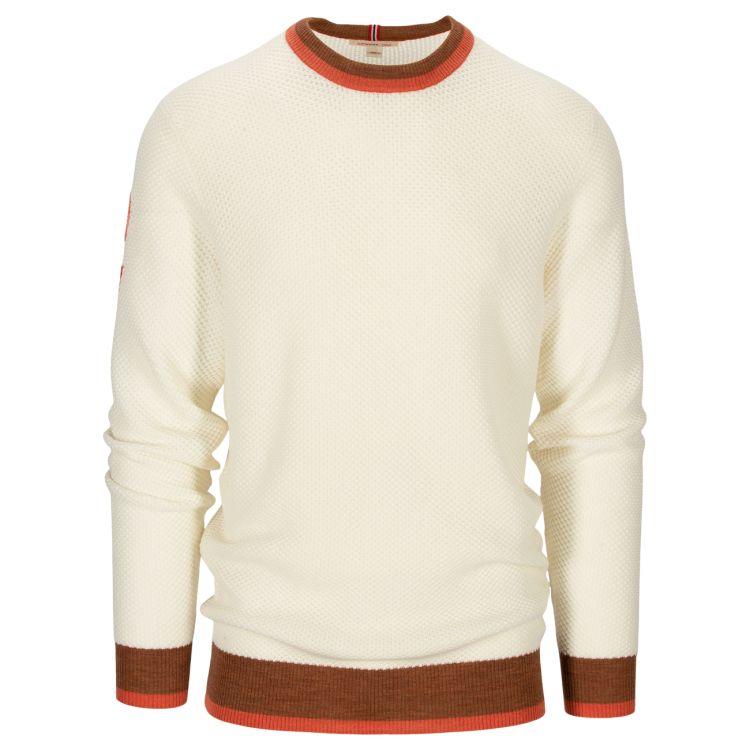 Drifter Sweater til herre fra Amundsen Sports i fargen Oatmeal. Produktbildet viser genseren sett forfra