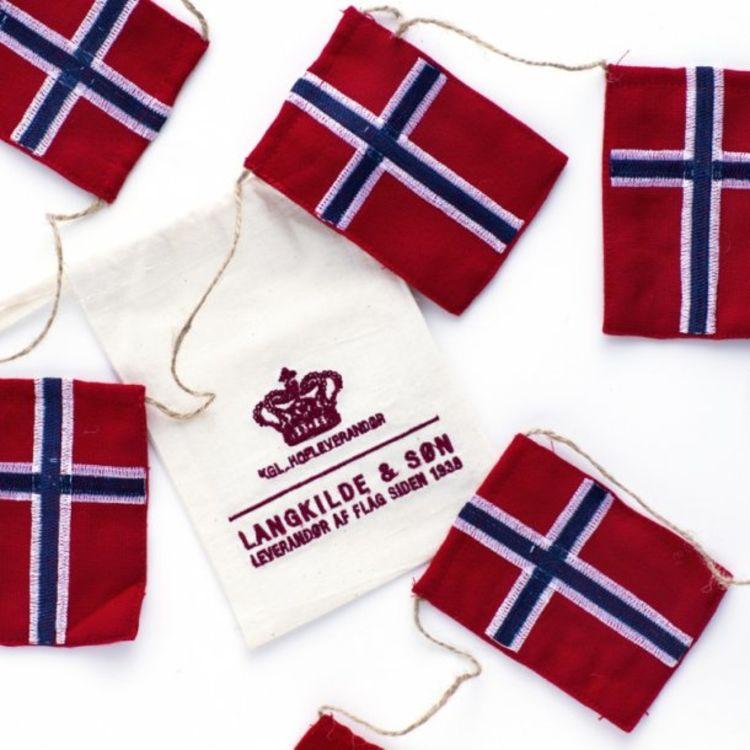 sydd flagglenke norske flagg Langkilde & søn