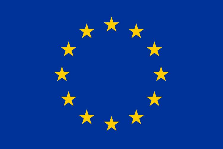 EU flagget - blått med gule stjerner
