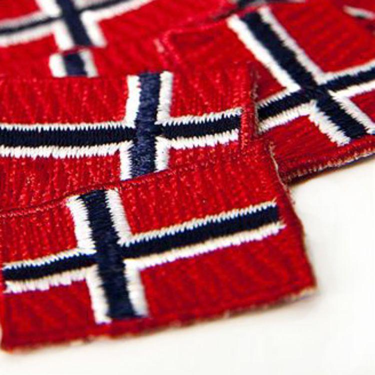 broderte norske flagg