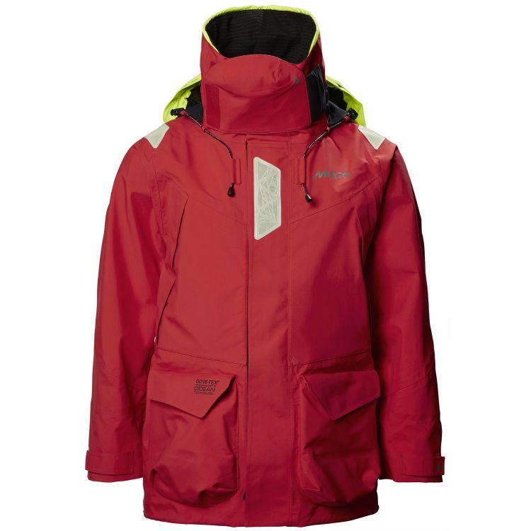HPX Ocean jacket fra Musto i fargen true red. Produktbildet viser jakken sett forfra