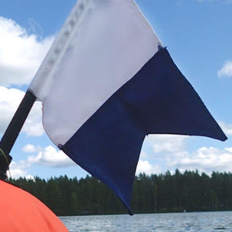 dykkerflagg på stang