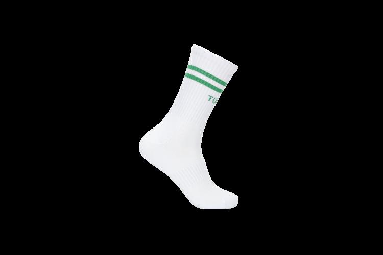 Almelav sokk fra Tufte Wear. Unisex i med stripe i grønt