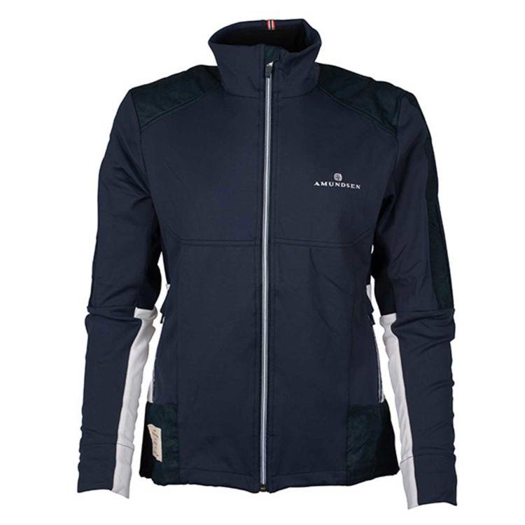 5Mila Jacket fra Amundsen Sports til dame i fargen faded navy. Produktbilde av jakken sett forfra