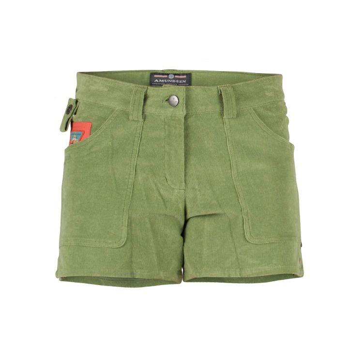 5 Incher concord shorts til dame i fagren moss green/olive. Produktbildet viser shortsen sett forfra