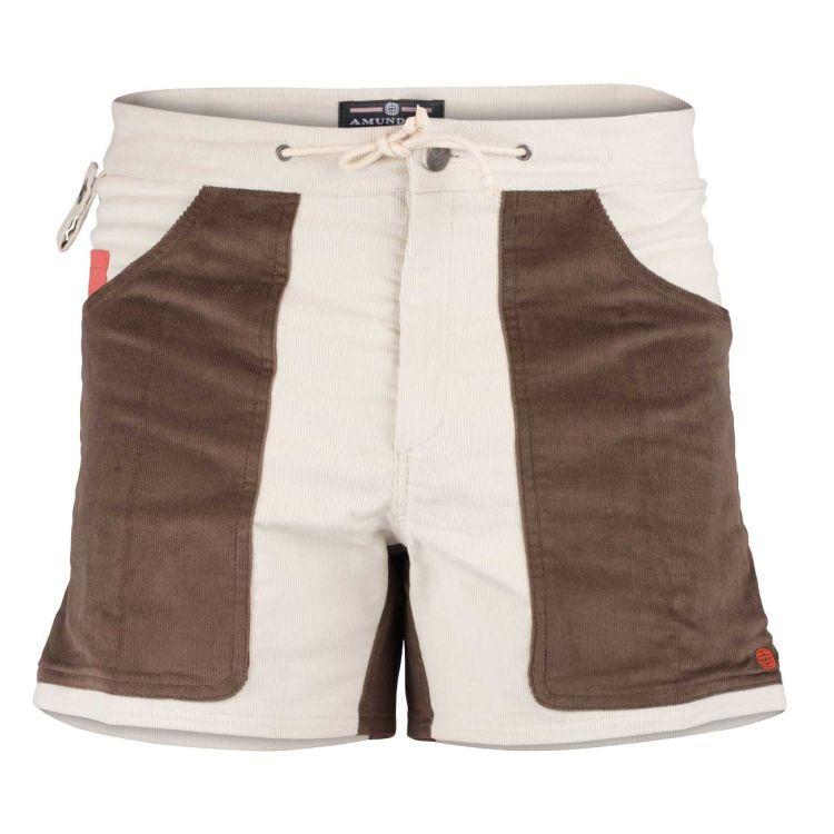 5 incher concord shorts fra amundsen sports til herre i fargen natural/cowboy. produktbildet viser shortsen sett forfra