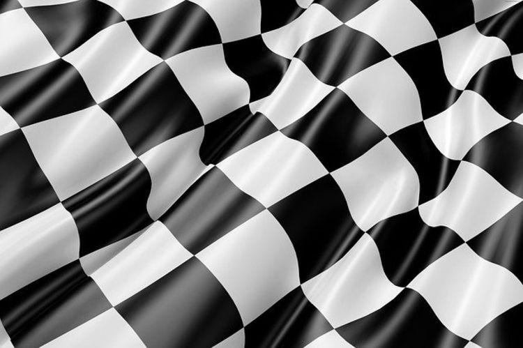 målflagg sorte og hvite ruter