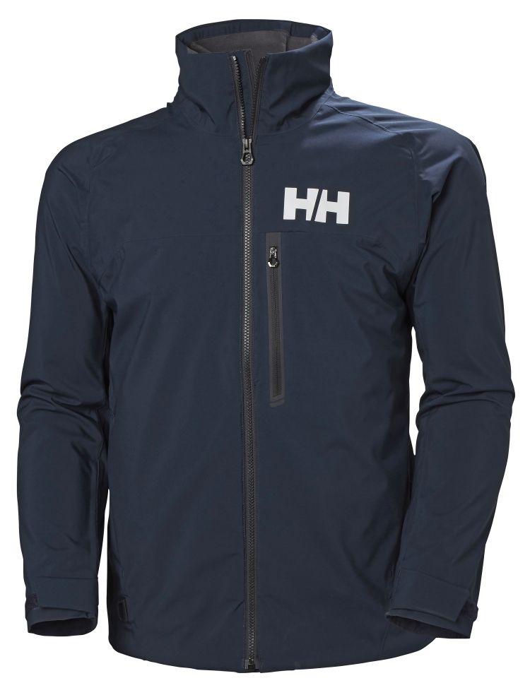 HP Racing Midlayer Jacket tl herre fra Helly Hansen i fargen navy. Produktbildet viser jakken sett forfra