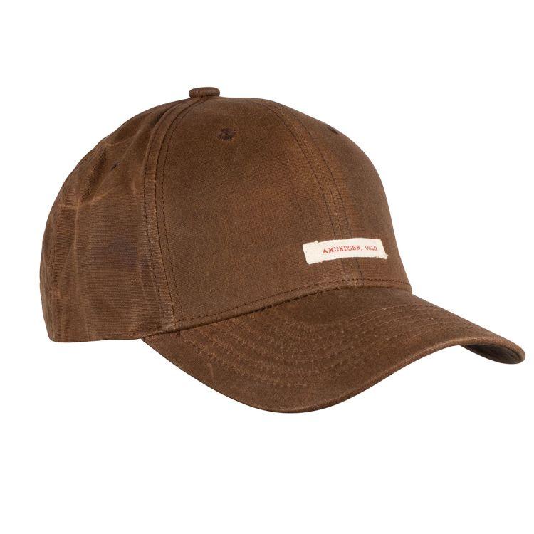 Waxed Cotton Caps fra Amundsen Sports i fargen tan