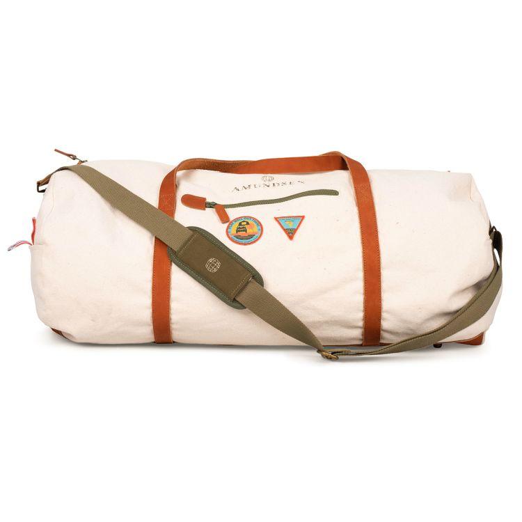 okavanga duffel bag 35 l beige fra amundsen sports produktbilde forfra