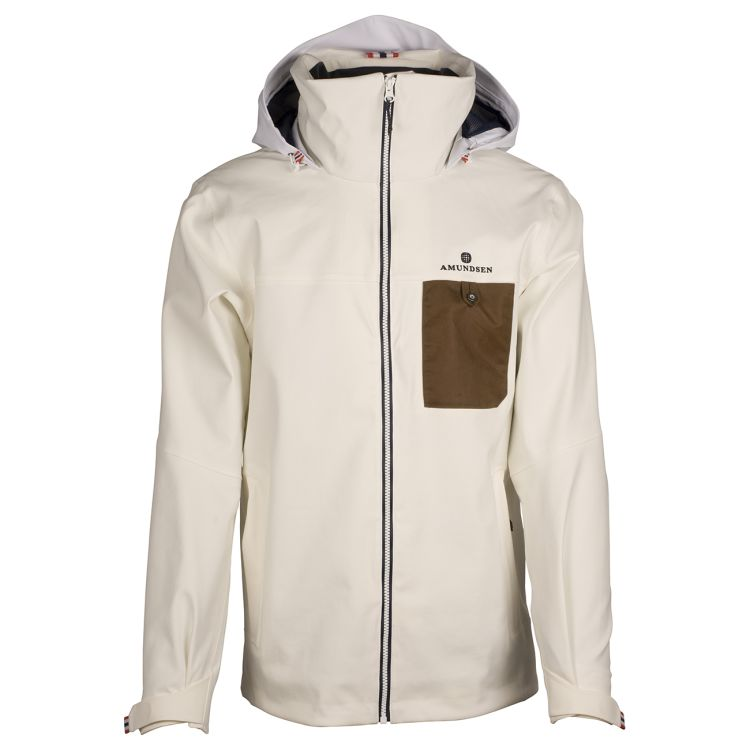 Drifter Jacket fra Amundsen Sports til herre i fargen offwhite. Bildet viser jakken sett forfra