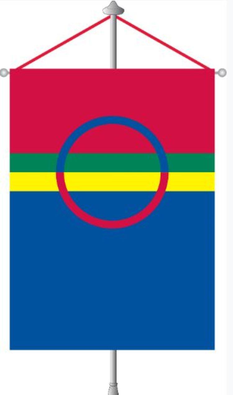 det samiske flagget - bordfane