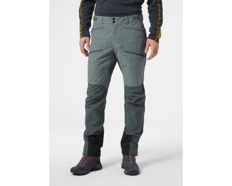 Verglas Tur Pant fra Helly Hansen i fargen Trooper. Bildet viser buksen på herremodell, buksen sett forfra