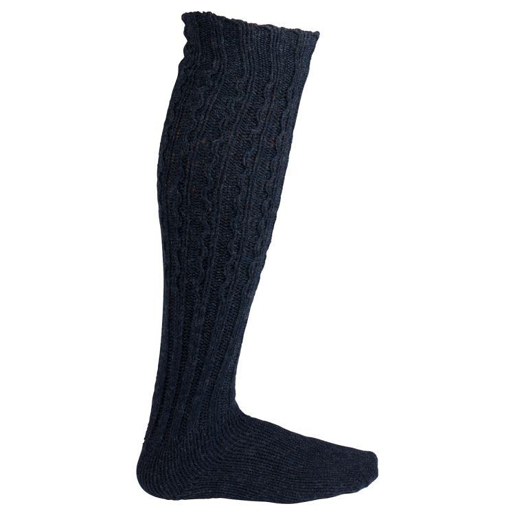 Traditional Socks fra Amundsen Sports i fargen faded navy. Produktbilde sett fra siden